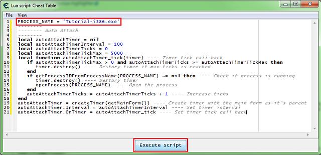 Setup a Lua auto attach script - Cheat Engine